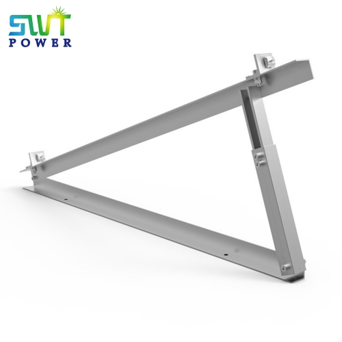 Adjustable tilt triangle mounting structure